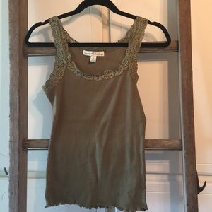 French laundry tank top olive color small